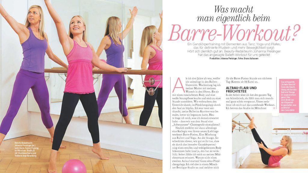 Freundin Ausgabe Februar 2019 Barre Workout
