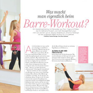 Freundin Beauty Ausgabe Februar 2019 Barre Workout