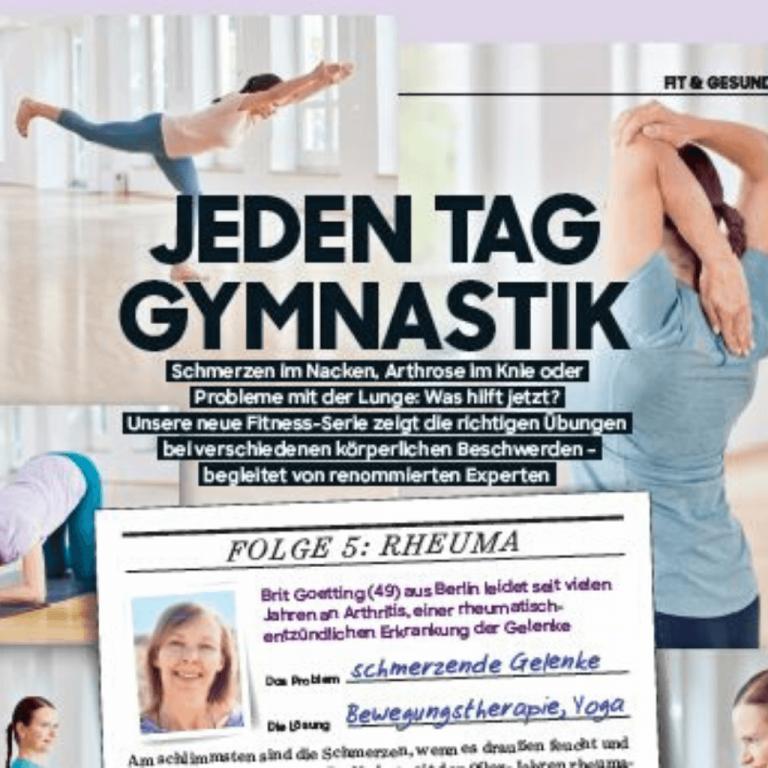 Jeden Tag Gymnastik bei Rheuma