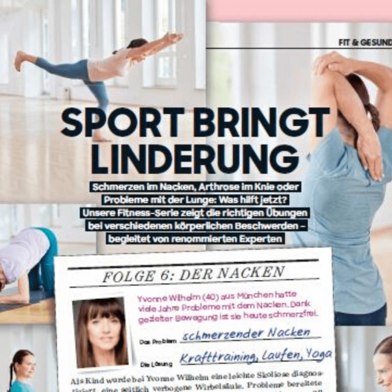 Sport bringt Linderung bei schmerzendem Nacken